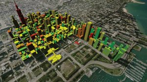 A Smart Grid illustration of the Chicago Central Business District