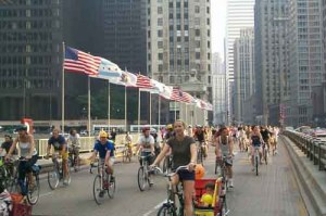 Critical Mass on Michigan Ave.