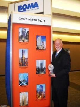 "David Hopwood, Property Manager at Hyatt Center, 2012 International ""The Outstanding Building of the Year"" Award winner."
