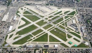 An aerial view of Chicago's Midway Airport