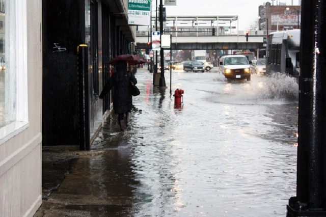 When Chicago was hit with flash floods in April (pictured), some property managers were left scrambling to find a suitable building restoration company.